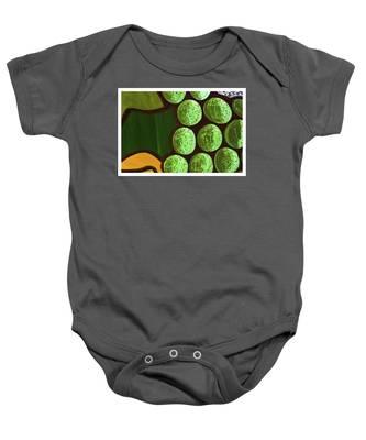 Green Yellow Baby Onesie