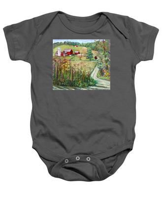 Meadow Farm Baby Onesie