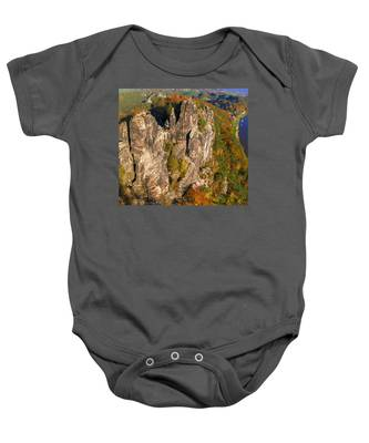 Neurathen Castle In The Saxon Switzerland Baby Onesie