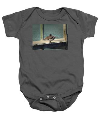 Sitting On The Dock Of The Bay Baby Onesie