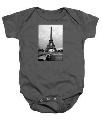 Summer Storm Over The Eiffel Tower Baby Onesie