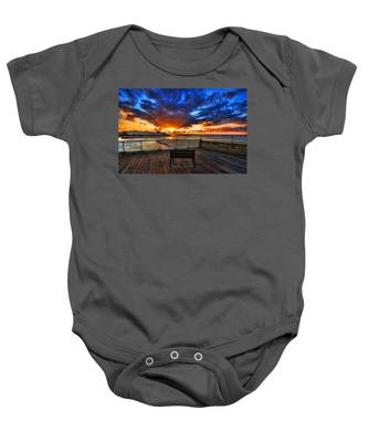 sunset at the port of Tel Aviv Baby Onesie