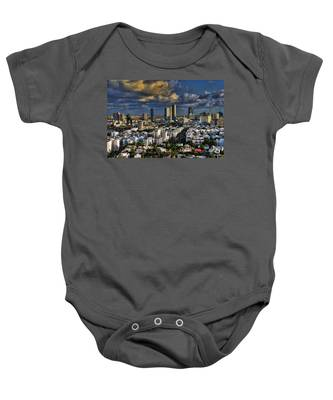 Tel Aviv Skyline Fascination Baby Onesie