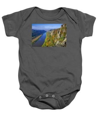 The Elbe Sandstone Mountains Along The Elbe River Baby Onesie