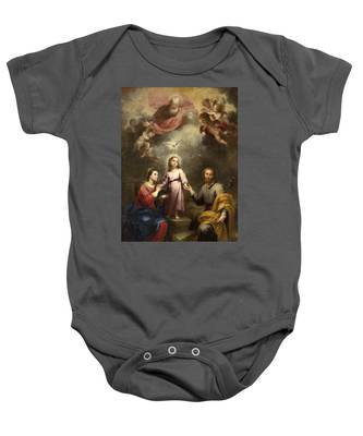 The Heavenly And Earthly Trinities Baby Onesie