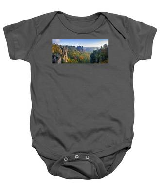 View From The Bastei Bridge In The Saxon Switzerland Baby Onesie