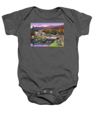 Waterville Estates In Autumn Baby Onesie