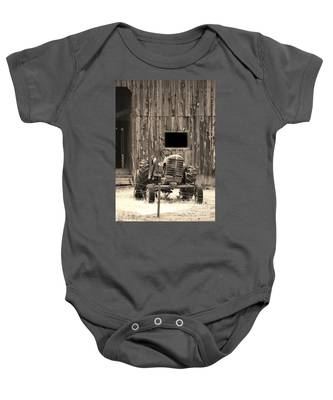 Tractor And The Barn Baby Onesie