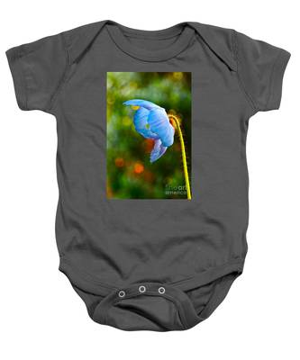 Blue Poppy Dreams Baby Onesie