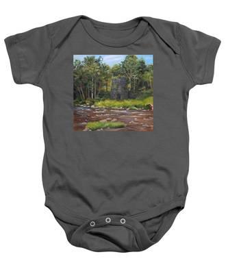Iron Furnace Of Franconia New Hampshire Baby Onesie