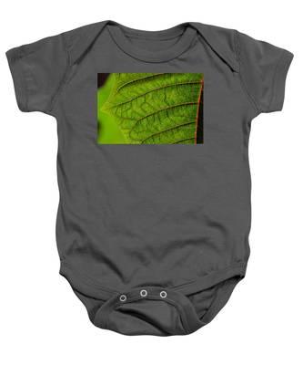 Poinsettia Leaf I Baby Onesie
