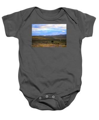 Stormy Wyoming Sunrise I Baby Onesie