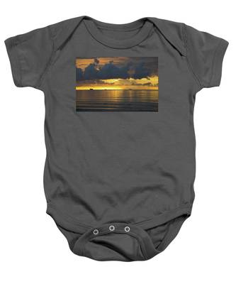 Baby Onesie featuring the photograph Sunrise Miami Beach by Dart and Suze Humeston