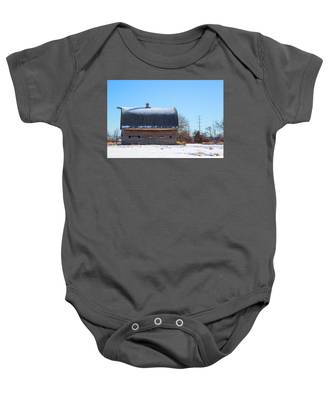 Old Barn In Idaho Baby Onesie by Dart Humeston