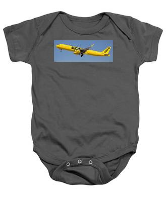 Baby Onesie featuring the photograph Spirit Airline by Dart Humeston