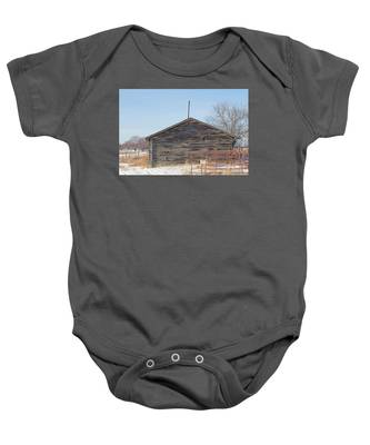Old Cabin In Idaho, Usa Baby Onesie by Dart Humeston
