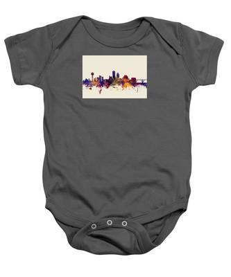 Knoxville Tennessee Skyline Baby Onesie
