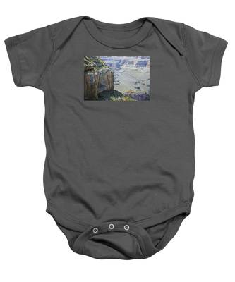 Afternoon At The Canyon Baby Onesie