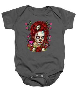 Sugar Doll Red Baby Onesie