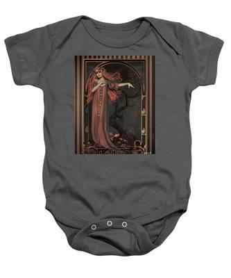 Autumn Art Nouveau  Baby Onesie
