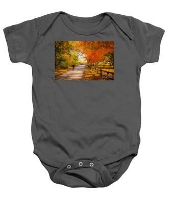 Autumn Path Baby Onesie