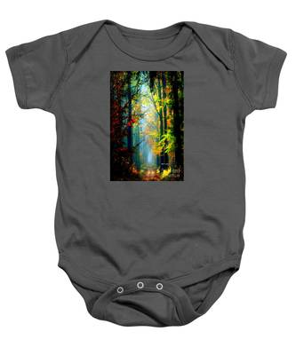 Autumn Trails In Georgia Baby Onesie