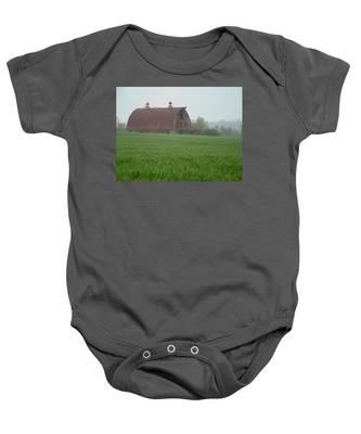 Barn In Summer Baby Onesie