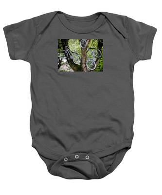 Bikes In A Tree Baby Onesie