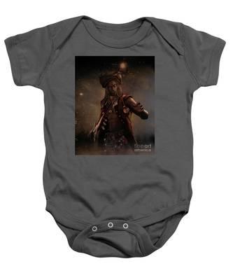 Black Caesar Pirate Baby Onesie