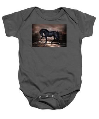 Black Stallion Baby Onesie