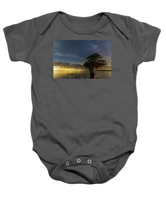 Blue Cypress Lake Nightsky Baby Onesie