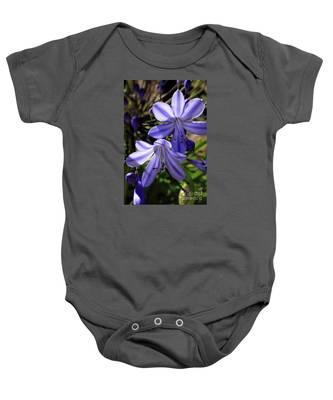 Blue Lily Baby Onesie