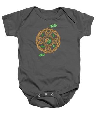 Celtic Nature Yin Yang Baby Onesie