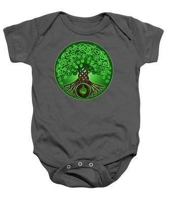 Circle Celtic Tree Of Life Baby Onesie