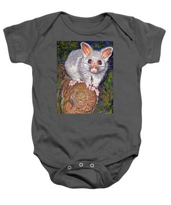 Curious Possum  Baby Onesie