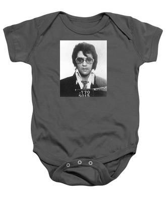 Elvis Presley Mug Shot Vertical Baby Onesie