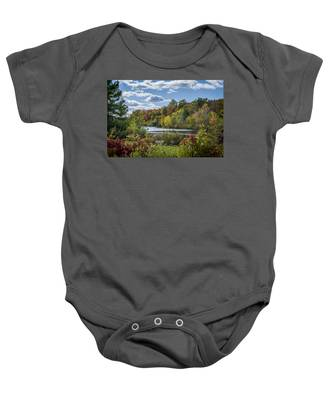 Fall Time On The Lake Baby Onesie