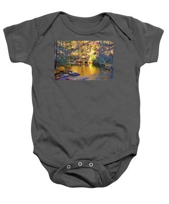 Fishing On The Cullasaja By H H Photography Of Florida Baby Onesie