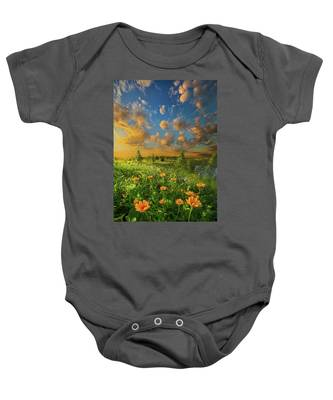 For A Moment All The World Was Right Baby Onesie