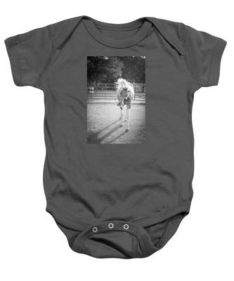 Funny Horse In Black And White Baby Onesie
