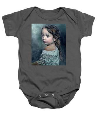 Girl In Lace Baby Onesie