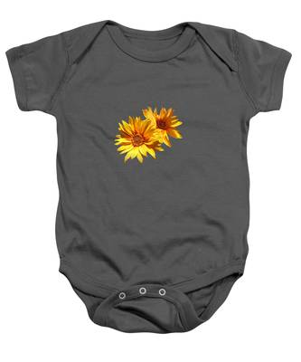 Golden Sunflowers Baby Onesie