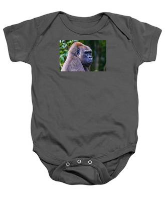 Baby Onesie featuring the photograph Gorilla  by Dart and Suze Humeston