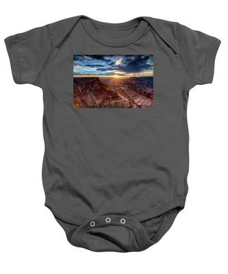 Grand Canyon Sunburst Baby Onesie
