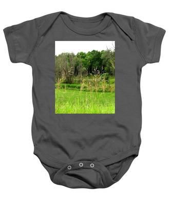 Swaying Grass Baby Onesie
