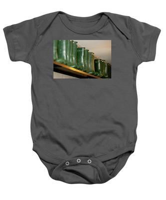 Green Wellies Baby Onesie