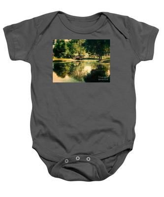 Heckscher Park Pond, Huntington Ny Baby Onesie
