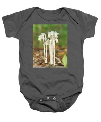 Indian Pipes Baby Onesie