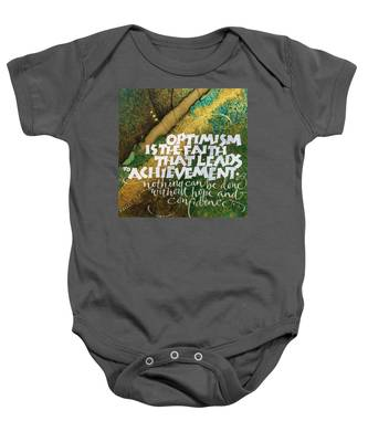 Inspirational Saying Optimism Baby Onesie
