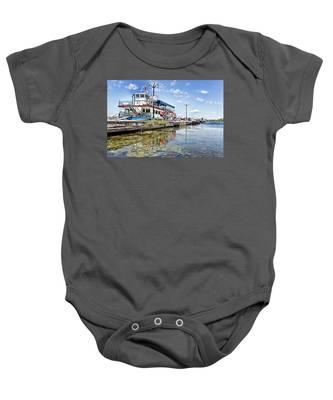 Island Princess At Harbour Dock Baby Onesie